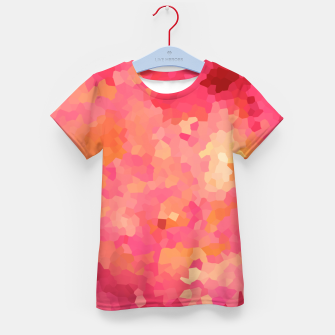 Thumbnail image of Hot fuchsia poly shape, mosaic abstract background, polygon geometry in bright colors Kid's t-shirt, Live Heroes