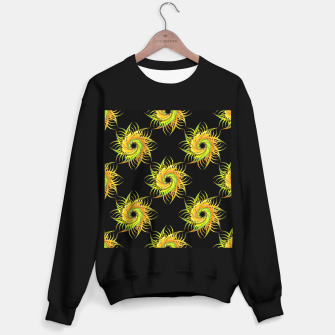 Thumbnail image of Colorful spiral on black Sweater regular, Live Heroes