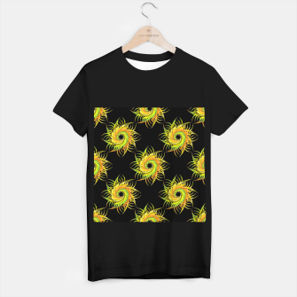 Thumbnail image of Colorful spiral on black T-shirt regular, Live Heroes