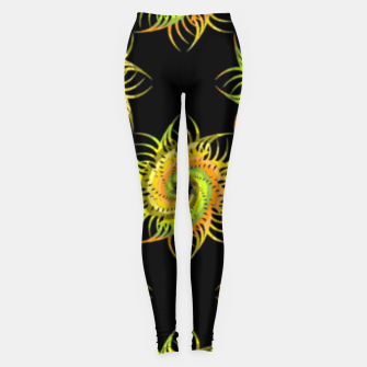Thumbnail image of Colorful spiral on black Leggings, Live Heroes