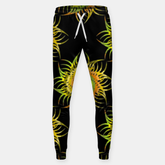 Thumbnail image of Colorful spiral on black Sweatpants, Live Heroes