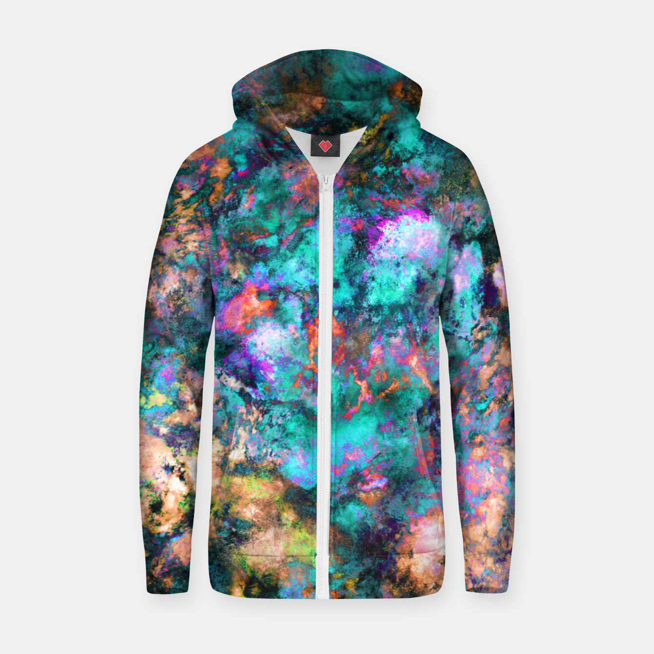 Image of From a single flower Zip up hoodie - Live Heroes
