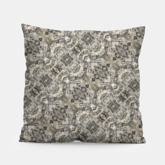 Thumbnail image of Brown Vintage Geometric Pattern Pillow, Live Heroes