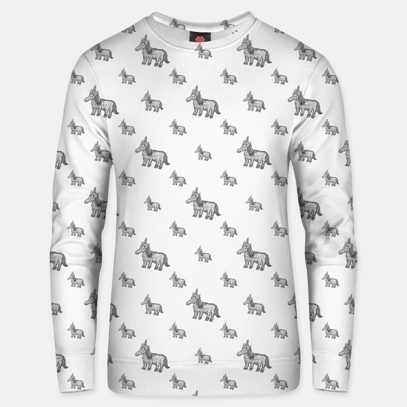 Image of Unicorn Sketchy Style Motif Drawing Pattern Unisex sweater - Live Heroes