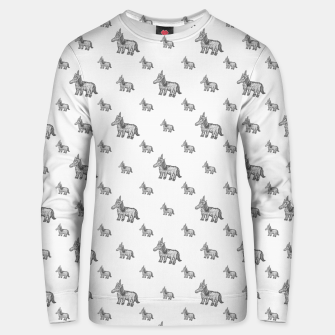 Thumbnail image of Unicorn Sketchy Style Motif Drawing Pattern Unisex sweater, Live Heroes