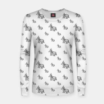 Thumbnail image of Unicorn Sketchy Style Motif Drawing Pattern Women sweater, Live Heroes