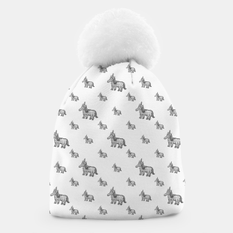 Thumbnail image of Unicorn Sketchy Style Motif Drawing Pattern Beanie, Live Heroes