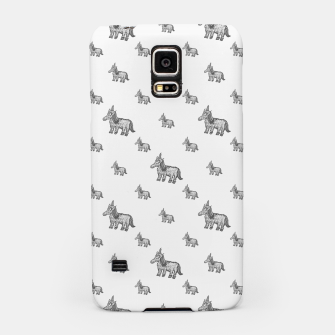 Thumbnail image of Unicorn Sketchy Style Motif Drawing Pattern Samsung Case, Live Heroes