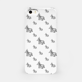 Thumbnail image of Unicorn Sketchy Style Motif Drawing Pattern iPhone Case, Live Heroes