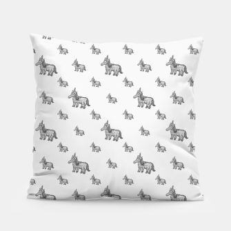 Thumbnail image of Unicorn Sketchy Style Motif Drawing Pattern Pillow, Live Heroes