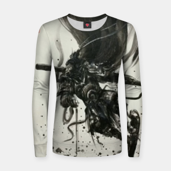 Thumbnail image of Fight against Buddha Women sweater, Live Heroes
