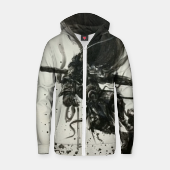 Thumbnail image of Fight against Buddha Zip up hoodie, Live Heroes