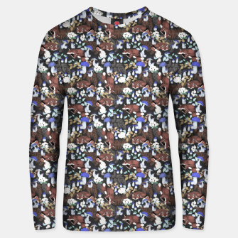 Miniatur Foxes in the dark forest 85D Sudadera unisex, Live Heroes