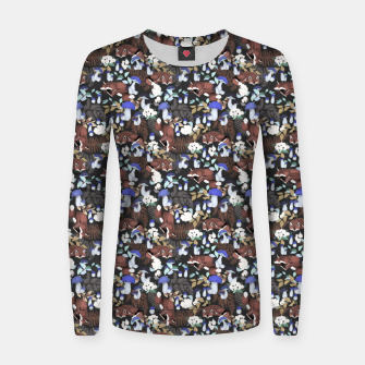 Miniatur Foxes in the dark forest 85D Sudadera para mujeres, Live Heroes