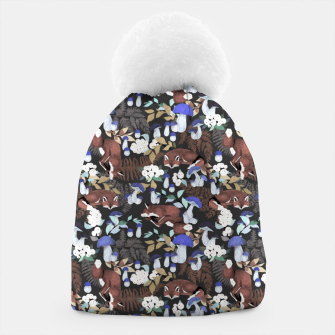 Miniatur Foxes in the dark forest 85D Gorro, Live Heroes
