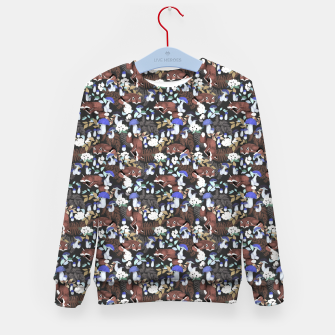 Miniatur Foxes in the dark forest 85D Sudadera para niños, Live Heroes