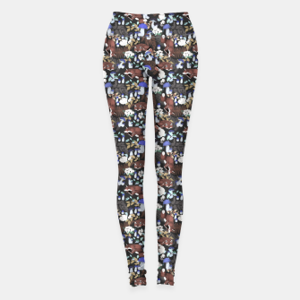 Miniatur Foxes in the dark forest 85D Leggings, Live Heroes