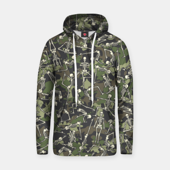 Thumbnail image of Yoga Skeleton Military Camo Camouflage Pattern Woodland Hoodie, Live Heroes