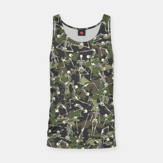 Thumbnail image of Yoga Skeleton Military Camo Camouflage Pattern Woodland Tank Top, Live Heroes