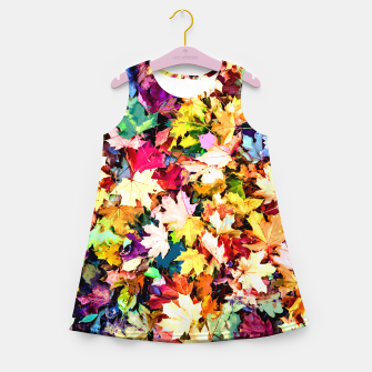 Thumbnail image of Colorful autumn Girl's summer dress, Live Heroes