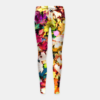 Thumbnail image of Colorful autumn Girl's leggings, Live Heroes