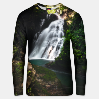 Thumbnail image of Stunning waterfall Šum in magical forest Unisex sweater, Live Heroes