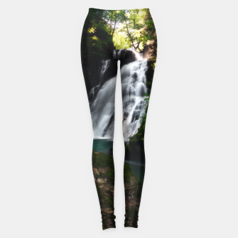 Miniatur Stunning waterfall Šum in magical forest Leggings, Live Heroes