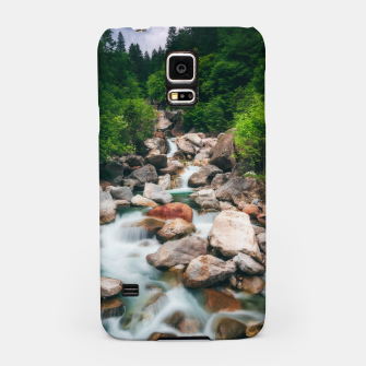 Miniaturka Beautiful cascading river in spring Samsung Case, Live Heroes