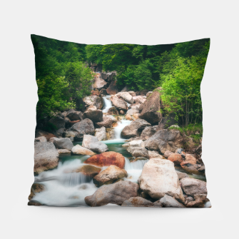 Miniaturka Beautiful cascading river in spring Pillow, Live Heroes