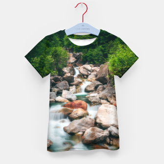 Miniatur Beautiful cascading river in spring Kid's t-shirt, Live Heroes