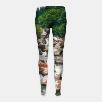 Thumbnail image of Beautiful cascading river in spring Girl's leggings, Live Heroes