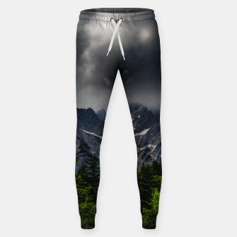 Miniaturka Stormy skies above mountains and spring forest Sweatpants, Live Heroes