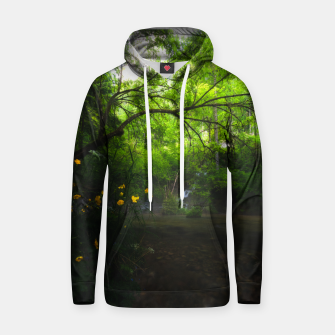 Imagen en miniatura de Magical forest with yellow flowers and waterfall Hoodie, Live Heroes
