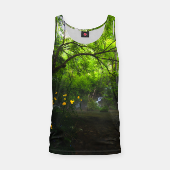 Miniature de image de Magical forest with yellow flowers and waterfall Tank Top, Live Heroes