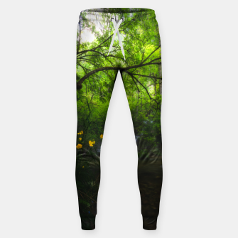 Miniaturka Magical forest with yellow flowers and waterfall Sweatpants, Live Heroes