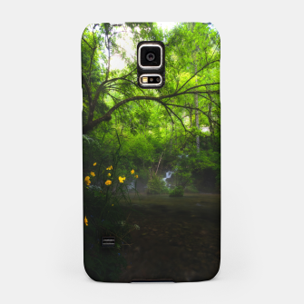 Miniaturka Magical forest with yellow flowers and waterfall Samsung Case, Live Heroes