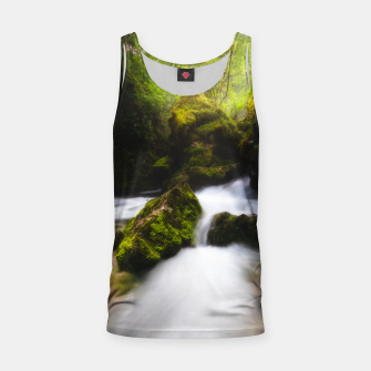 Thumbnail image of Water flowing through enchanted mossy forest Tank Top, Live Heroes
