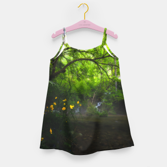 Miniature de image de Magical forest with yellow flowers and waterfall Girl's dress, Live Heroes