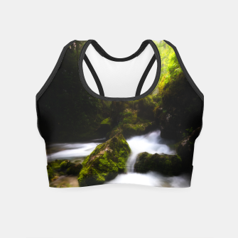Thumbnail image of Water flowing through enchanted mossy forest Crop Top, Live Heroes