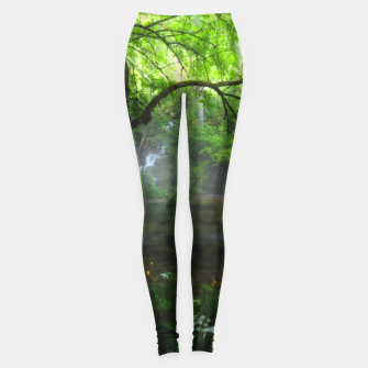 Miniatur Enchanted forest and waterfall Leggings, Live Heroes
