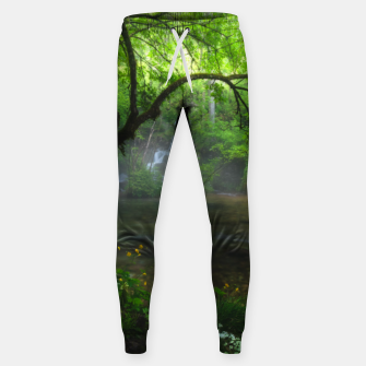 Miniaturka Enchanted forest and waterfall Sweatpants, Live Heroes
