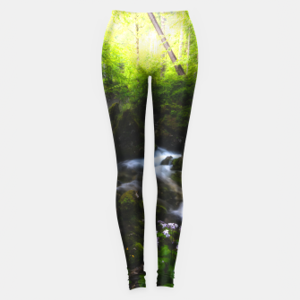 Miniatur Spring flowers in enchanted river forest Leggings, Live Heroes