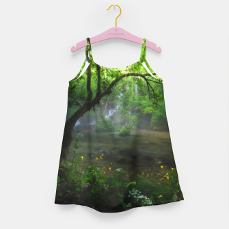 Miniature de image de Enchanted forest and waterfall Girl's dress, Live Heroes