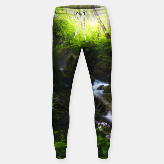 Miniaturka Spring flowers in enchanted river forest Sweatpants, Live Heroes