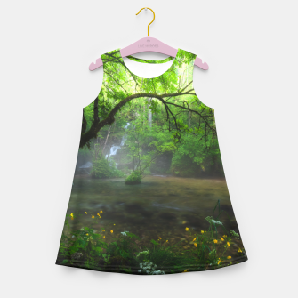 Thumbnail image of Enchanted forest and waterfall Girl's summer dress, Live Heroes
