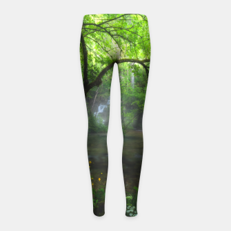 Thumbnail image of Enchanted forest and waterfall Girl's leggings, Live Heroes