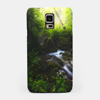 Miniaturka Spring flowers in enchanted river forest Samsung Case, Live Heroes