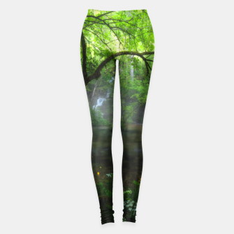 Miniature de image de Enchanted forest and waterfall Leggings, Live Heroes