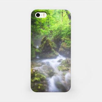 Miniaturka River flowing through enchanted green forest iPhone Case, Live Heroes