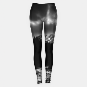 Miniatur Dramatic landscape of mountains and river Leggings, Live Heroes